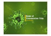 PPT양식 템플릿 배경 - 바이러스, 감염4