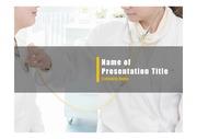PPT양식 템플릿 배경 - 의료, 진료1