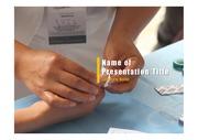 PPT양식 템플릿 배경 - 의료, 피검사1
