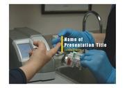 PPT양식 템플릿 배경 - 의료, 피검사2