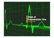 PPT양식 템플릿 배경 - 의료, 심전도