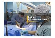 PPT양식 템플릿 배경 - 의료, 수술1