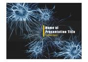 PPT양식 템플릿 배경 - 의학, 뇌세포1