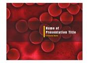 PPT양식 템플릿 배경 - 의학, 혈장