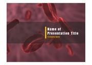 PPT양식 템플릿 배경 - 의학, 적혈구