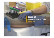 PPT양식 템플릿 배경 - 의료, 피검사3