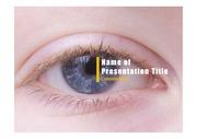 PPT양식 템플릿 배경 - 의료, 안과1
