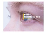 PPT양식 템플릿 배경 - 의료, 안과2