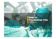 PPT양식 템플릿 배경 - 의료, 외과4