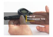 PPT양식 템플릿 배경 - 의료, 당뇨병1