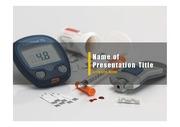 PPT양식 템플릿 배경 - 의학, 당뇨병2