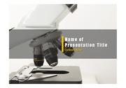 PPT양식 템플릿 배경 - 의학, 현미경2