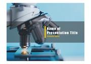 PPT양식 템플릿 배경 - 의료, 현미경1