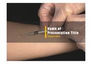 PPT양식 템플릿 배경 - 의료, 예방접종1