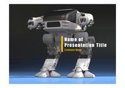 PPT양식 템플릿 배경 - 로봇2