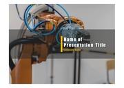 PPT양식 템플릿 배경 - 로봇3