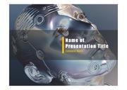 PPT양식 템플릿 배경 - 인공지능, 로봇2