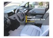 PPT양식 템플릿 배경 - 전기 자동차1