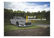 PPT양식 템플릿 배경 - 전기 자동차3