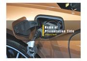 PPT양식 템플릿 배경 - 전기 자동차5