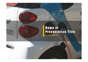 PPT양식 템플릿 배경 - 전기 자동차6