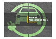 PPT양식 템플릿 배경 - 전기 자동차8