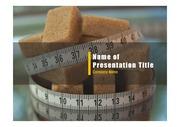PPT양식 템플릿 배경 - 건강관리, 설탕1