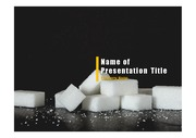 PPT양식 템플릿 배경 - 건강관리, 설탕4