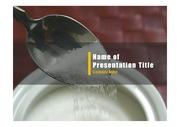 PPT양식 템플릿 배경 - 건강관리, 설탕9