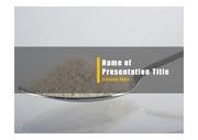 PPT양식 템플릿 배경 - 건강관리, 설탕11