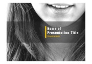 PPT양식 템플릿 배경 - 치과, 치아3
