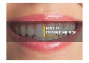PPT양식 템플릿 배경 - 치과, 치아1