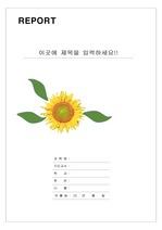 레포트 표지 & 보고서 표지 (해바라기) v1