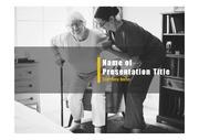 PPT양식 템플릿 배경 - 노인건강, 노인케어4