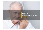PPT양식 템플릿 배경 - 노인건강, 노인케어5