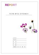 레포트 표지 & 보고서 표지 v3