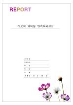 레포트 표지 & 보고서 표지 v4