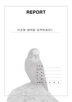레포트 표지 & 보고서 표지 v7