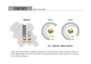 ppt다이어그램 - 578(그래픽 타입, 택배, 막대+원형그래프, 충청남도 지도, 흑백 )