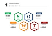 [PPT 템플릿] SWOT 분석 PPT 양식 템플릿 디자인 패키지 132