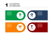 [PPT 템플릿] SWOT 분석 PPT 양식 템플릿 디자인 패키지 140