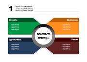[PPT 템플릿] SWOT 분석 PPT 양식 템플릿 디자인 패키지 143