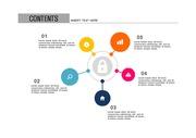 ppt다이어그램 - 802(그래픽 타입, 보안, 자물쇠, 네트워크, 인터넷, 컬러 )