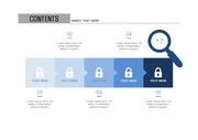 ppt다이어그램 - 806(step 타입, 보안, 자물쇠, 네트워크, 인터넷, 전자상거래, 아이콘, 블루1)