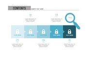 ppt다이어그램 - 807(step 타입, 보안, 자물쇠, 네트워크, 인터넷, 전자상거래, 아이콘, 블루2)