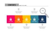 ppt다이어그램 - 808(step 타입, 보안, 자물쇠, 네트워크, 인터넷, 전자상거래, 아이콘, 컬러1)