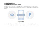 ppt다이어그램 - 840(그래픽 타입, 택시, 택시앱, 택시어플, 관계도, 블루)