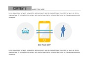 ppt다이어그램 - 841(그래픽 타입, 택시, 택시앱, 택시어플, 관계도, 컬러1)