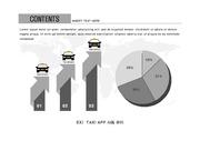 ppt다이어그램 - 843(그래픽 타입, 택시, 택시어플, 상승형+원형그래프, 아이콘, 흑백)