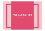 PPT템플릿 핑크와 레드의 콜라보